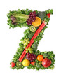 Fruit and vegetable alphabet - letter Z