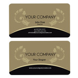 Elegant business card - brown