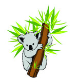 Koala in a tree vector