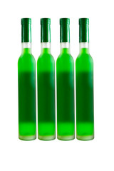 Green wine bottles