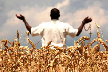 Praying for good harvest