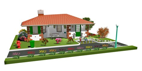 Casa Con Biciclette-House with Bycicles-3D