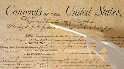 United States Declaration of Independence - feather included