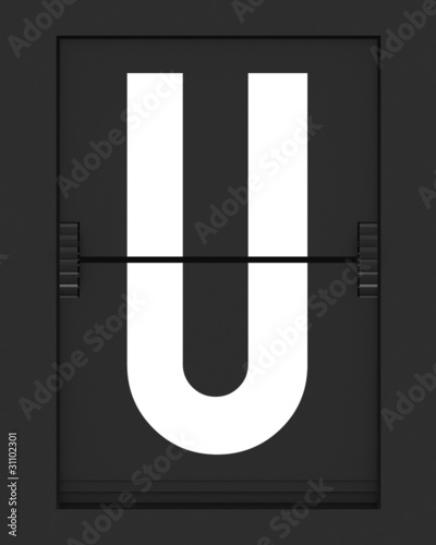 U Letter from mechanical timetable board