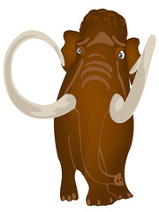 Extinct prehistorical animal mammoth