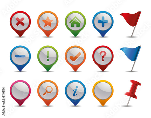 GPS Icons.