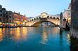 Quadro Venice, View of Rialto Bridge.