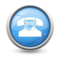 Symbole glossy vectoriel téléphone 01b