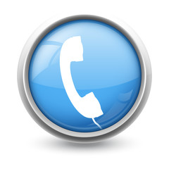 Symbole glossy vectoriel téléphone 01