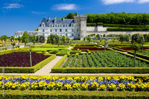 Villandry Castle with garden, Indre-et-Loire, Centre, France