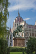 Hungarian Parliament and The Statue of Ferenc II Rakoczi