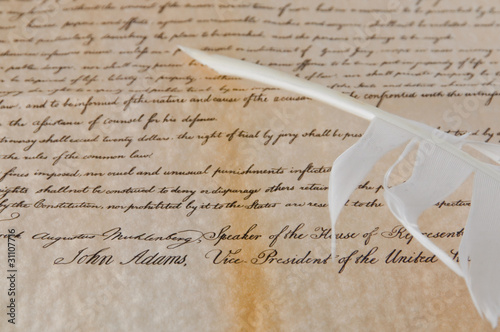 United States Declaration of Independence - the last sign