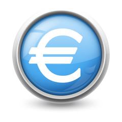 Symbole glossy vectoriel euro 01