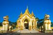 Entrance of The Shwedagon Paya, Yangoon, Myanmar.