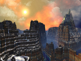 Cliff-top Alien City of Gold