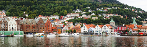 Panoramic view of Bergen, Norway