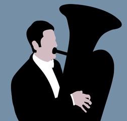 Man playing the Tuba