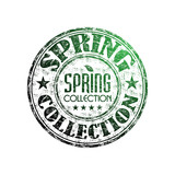 Spring collection rubber stamp
