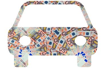 Auto aus Geldscheinen