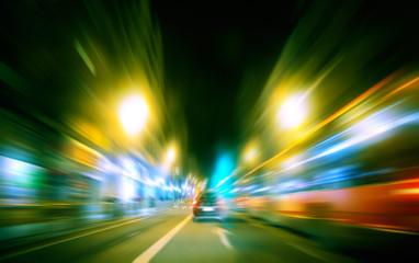 imagen abstracta de ciudad y trafico