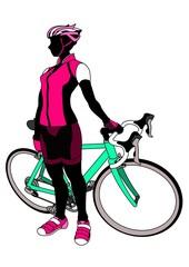 サイクリング・女性(影)