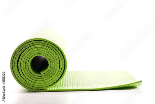 Green Yoga Excercise Fitness Mat