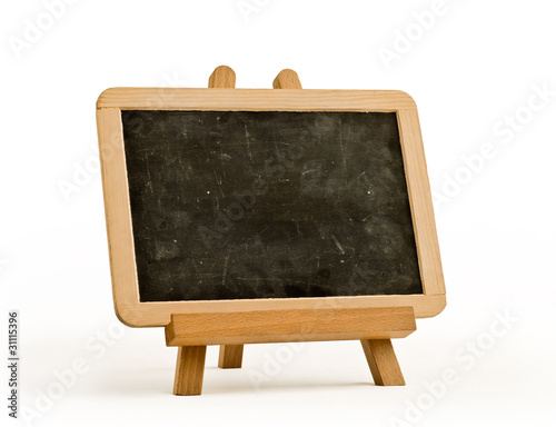 easel for artist. tripod with blackboard.