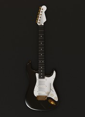 Electric guitar on dark background