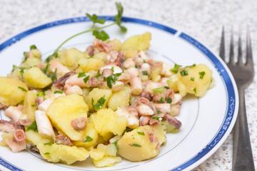Octopus salad with potatoes, Croatian style