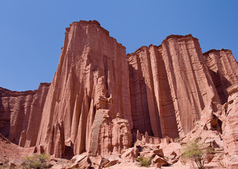 Red rock canyon in Talampaya National Park