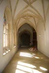 Cloister in the Benedictine Abbey, Pannonhalma, Hungary