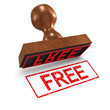 "3d Rubber Stamp - ""Free"""