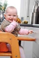 Cute Baby in kitchen