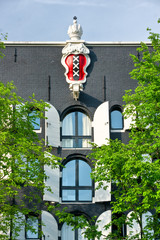 Emblem of Amsterdam in a palace,