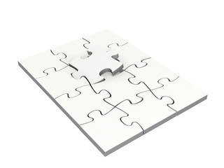 Completing a puzzle