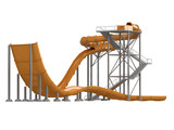 Orange waterslide