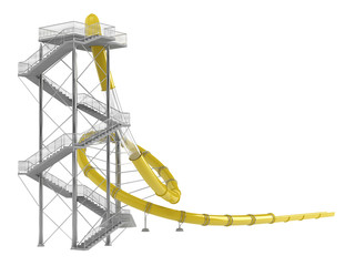 Yellow waterslide