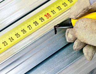 Steel stud measuring
