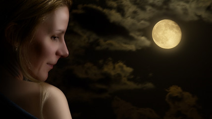 Portrait of a Woman, by moonlight