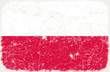 vector grunge styled flag of poland