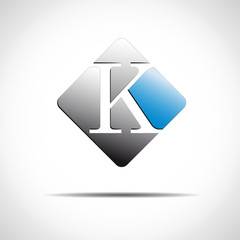 Logo initial letter K on white background # Vector