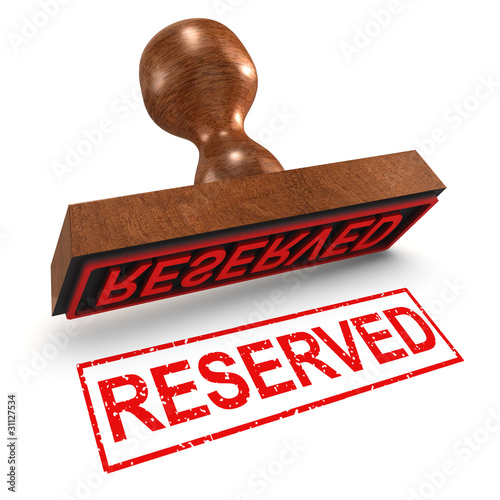 "3d Rubber Stamp - ""Reserved"""