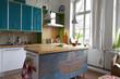 moderne Küche in einem Einfamilienhaus