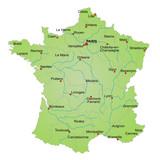 Fototapety Karte Frankreich / vektor