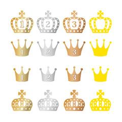 王冠アイコンセット