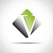 Logo initial letter V on white background # Vector