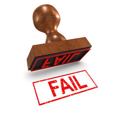 "3d Rubber Stamp - ""Fail"""