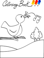 Coloring Book - Bird