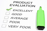 Product evaluation poster