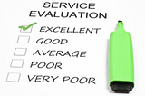 Service evaluation poster
